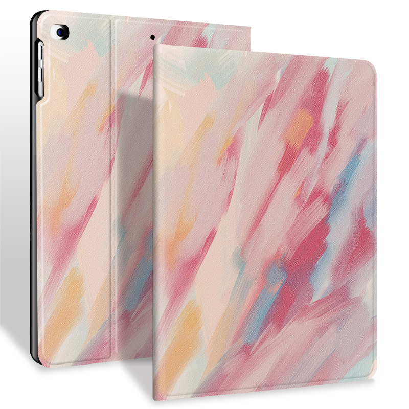Custom Printed Leather Silicone Book Case for Apple IPad 10.2 Cover