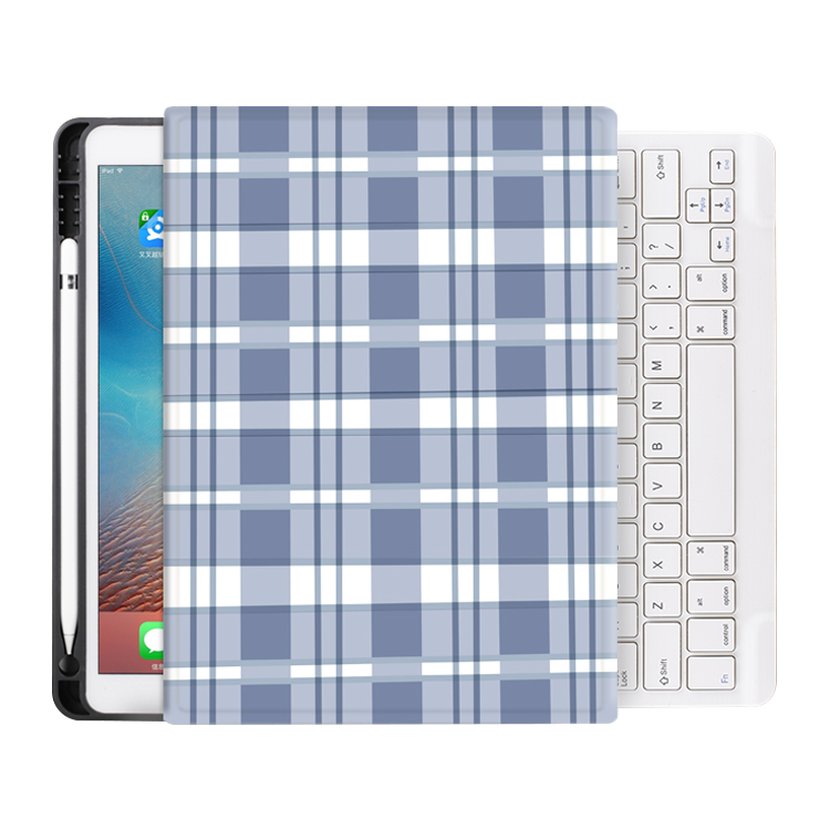 Pencil Holder Kids Custom Bluetooth Keyboard Case for iPad 10.2 8th Gen