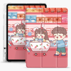 Shockproof Leather TPU Printed Pencil Holder Case for Apple iPad Air 4 10.9 Case