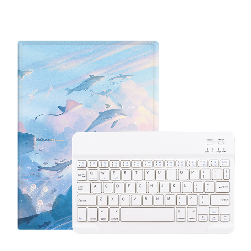 Wireless Keyboard Pencil Holder Folio Cover for Printed Heavy Duty for iPad Pro 12.9 2020