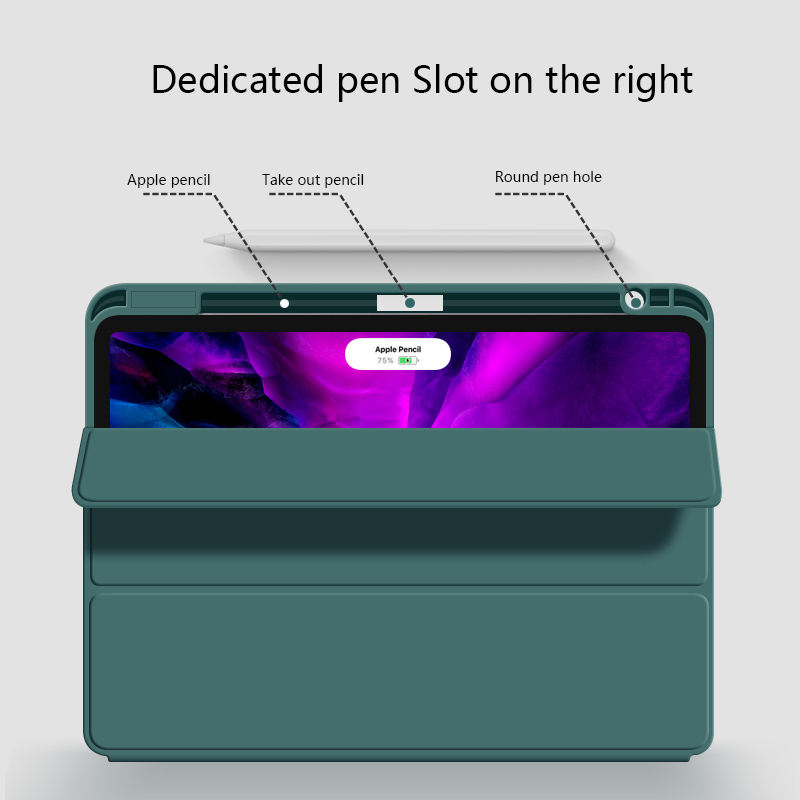 Magnetic Pen Charging Pencil Holder Case for iPad Pro 11 2020