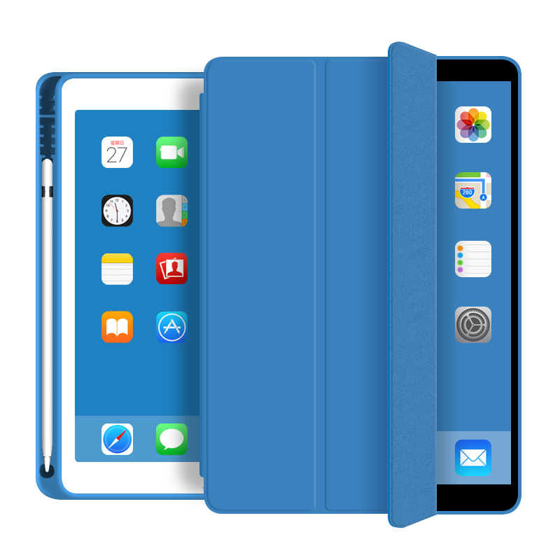 Factory Direct Sales Tablet Case With Pencil Holder Soft Case Cover For iPad 9.7 2017 2018